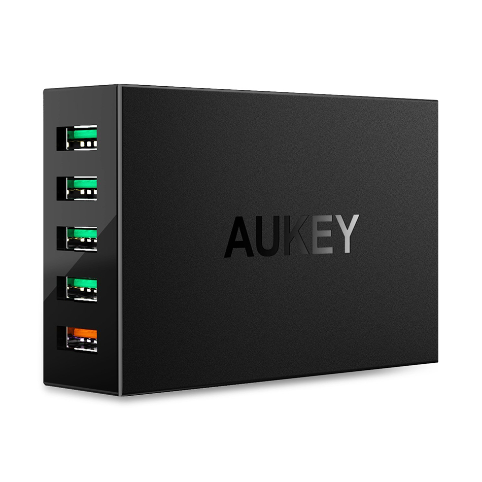 best authentic 23626 1b280 Aukey PA-T15 (55.5W) 5-Port USB Fast Charger (Quick Charge 3.0)